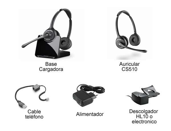 c3353e0bbb9 Plantronics CS520. Auricular Inalámbrico biaural para Telefono Fijo