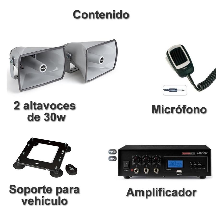 Megafonía para vehículos