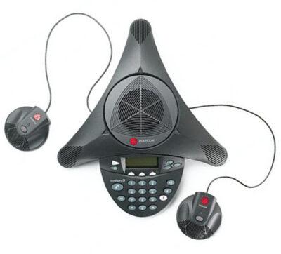 SoundStation EX con micrófonos